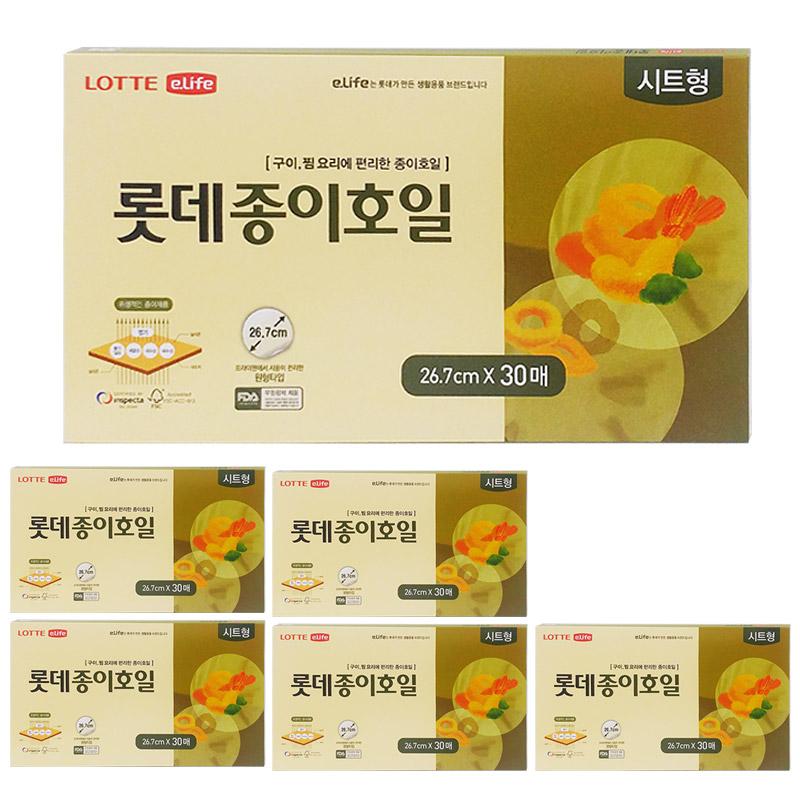 롯데이라이프 종이호일 시트형 26.7cm 30매, 6개입