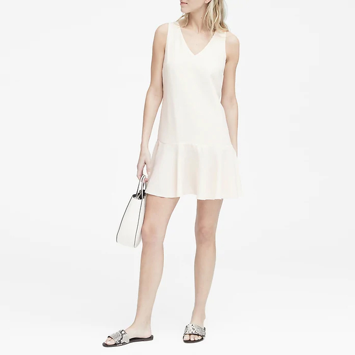 바나나리퍼블릭 여성 드롭 웨이스트 셔츠 드레스