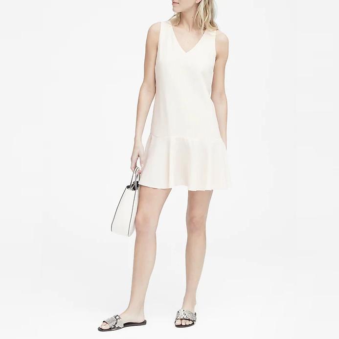 바나나리퍼블릭 여성 쁘띠 드롭 웨이스트 시프트 드레스