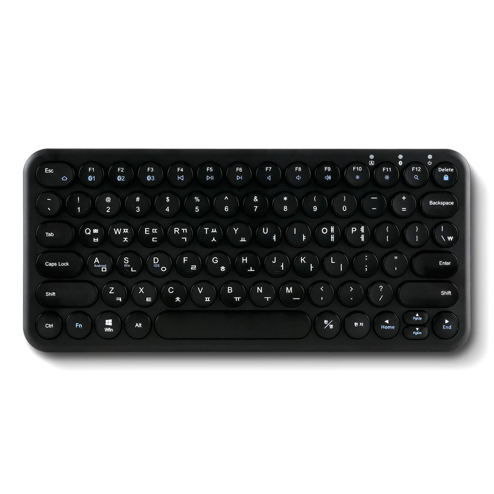 아이노트 퓨전에프앤씨 블루투스 키보드, X-KEY 38BT, 블랙