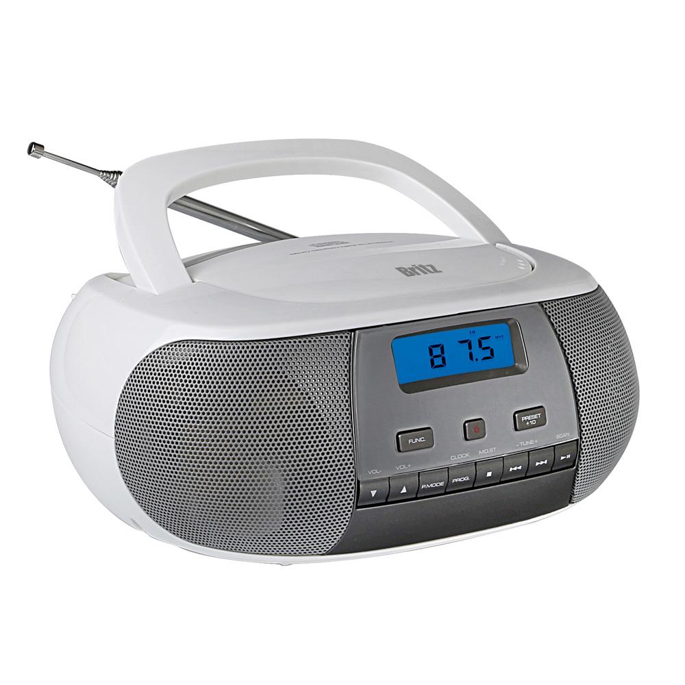 브리츠 휴대용 라디오 CD플레이어, BZ-CDPR2100, 화이트