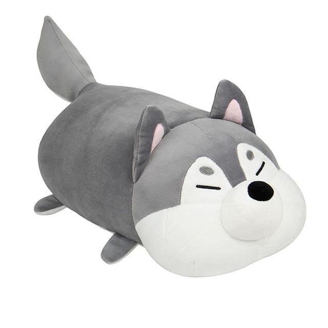 메세 모찌인형 강아지 허스키 쿠션, 50cm, 혼합 색상