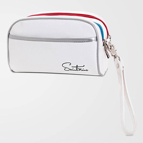 세인트나인 에나멜 파우치 골프백, 흰색