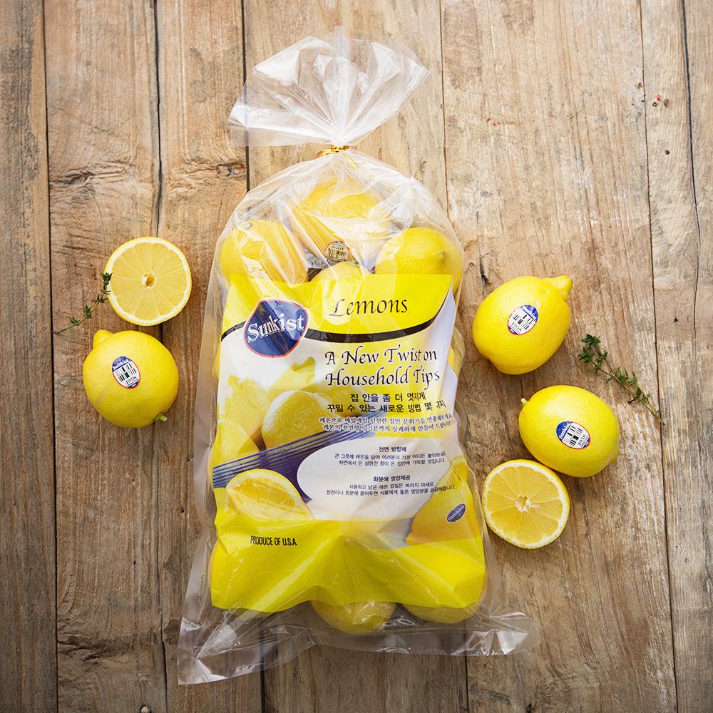썬키스트 레몬, 1.8kg (13~19입), 1봉