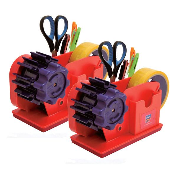 알파 물레방아 테이프 컷터기 1호, 혼합 색상, 2개입