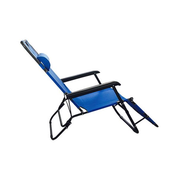 아웃팅 3단접이식 캠핑의자침대 특대형, 블루, 1개