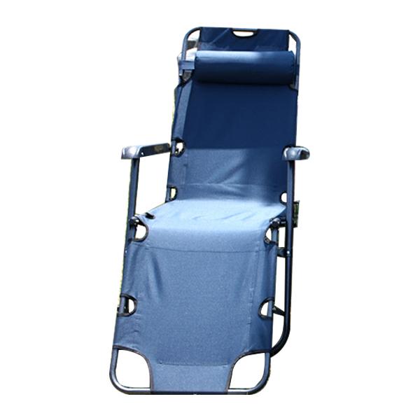 아웃팅 3단접이식 캠핑의자침대 특대형, 네이비, 1개