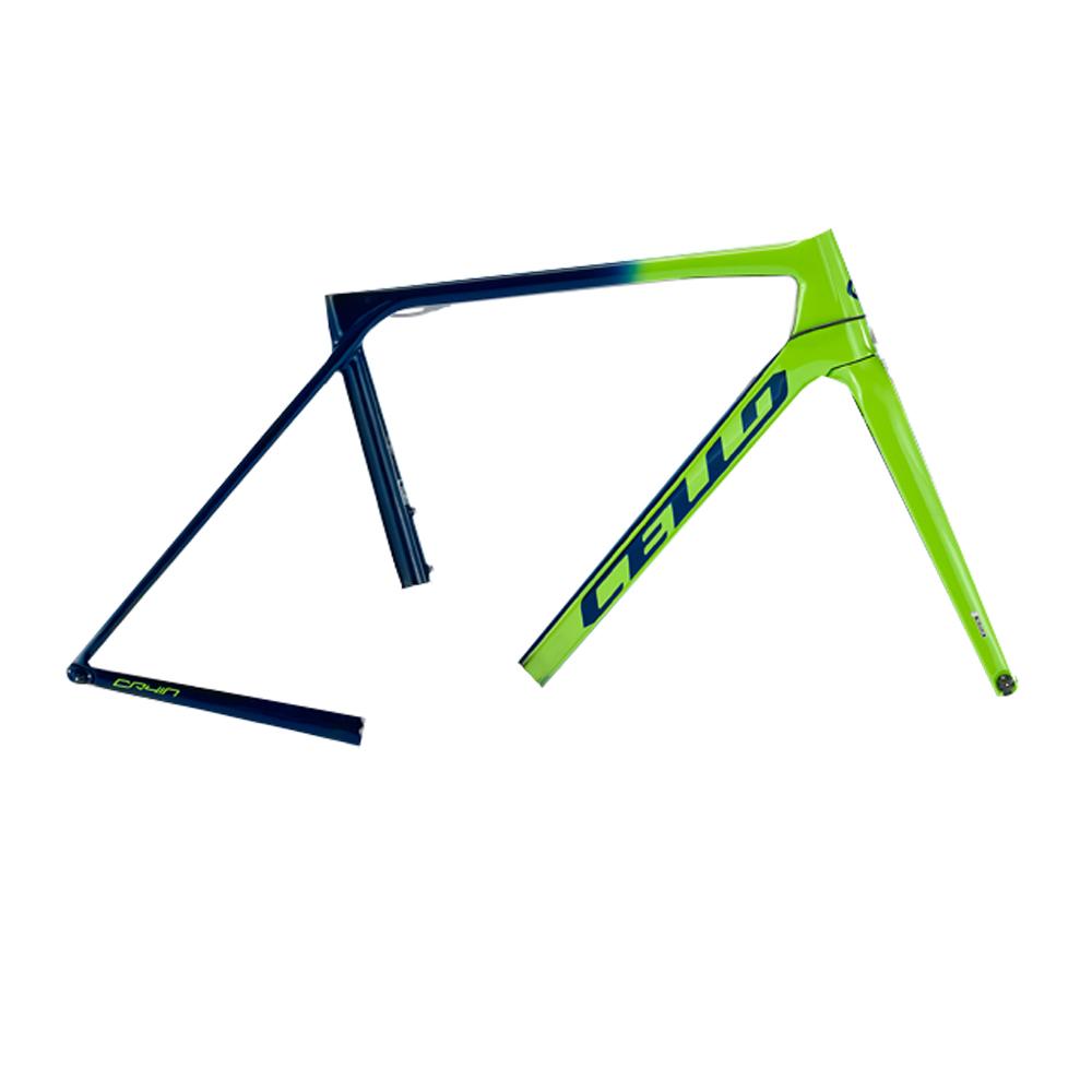 삼천리자전거 첼로 케인 C 울테그라 22단 700C 로드 자전거, 네온그린 + 다크블루