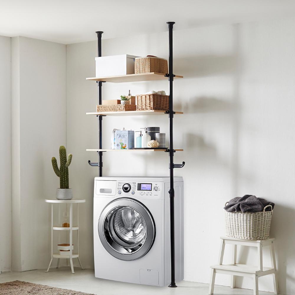 하우스데이 나사방식 세탁기선반 전용 우드 3단, 혼합 색상