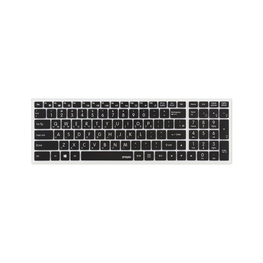 파인피아 한성 노트북용 문자인쇄 칼라 키스킨 HAN11번 / 한성 EX7977K / EX7977KW / EX7987K / EX7987KW, 블랙, 1개