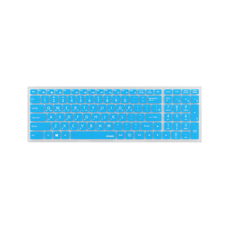 파인피아 한성 노트북용 문자인쇄 칼라 키스킨 HAN11번 / 한성 EX7977K / EX7977KW / EX7987K / EX7987KW, 블루, 1개