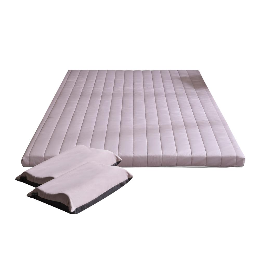 더코이즈 말레이시아 천연라텍스 매트리스 7.5cm + 중형 베개 2p, 인디고핑크