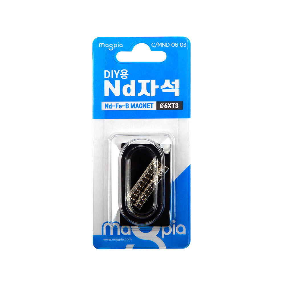 마그피아 DIY용 네오디움 강력자석 6 x 3 mm, 40개입
