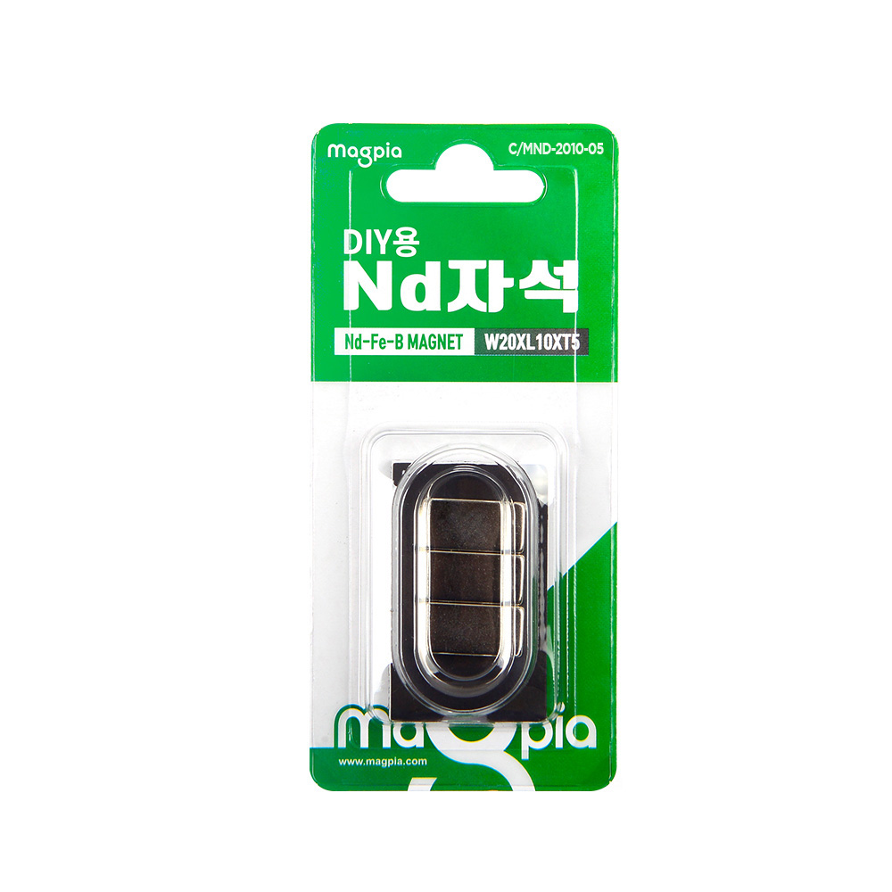 마그피아 DIY용 네오디움 사각 강력자석 20 x 10 x 5 mm, 6개입