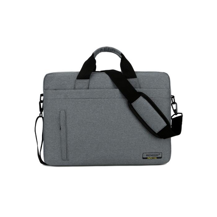 윰플 사이드지퍼 노트북크로스가방, 그레이