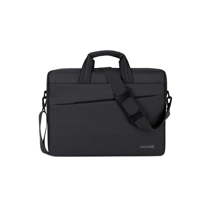 윰플 대각선라인 노트북크로스가방, 블랙