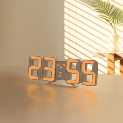 무아스 퓨어 미니 LED 벽시계, 오렌지