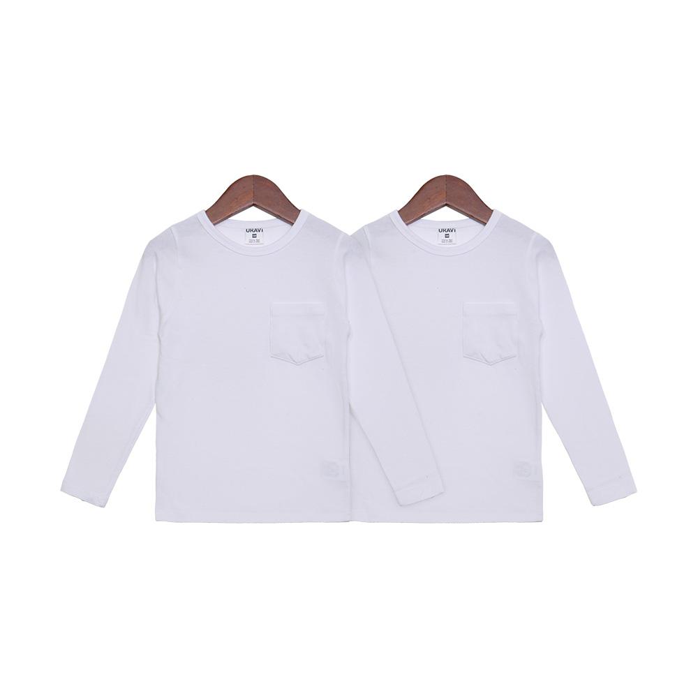 유라비 아동용 베이직 포켓 기본 티셔츠 2p