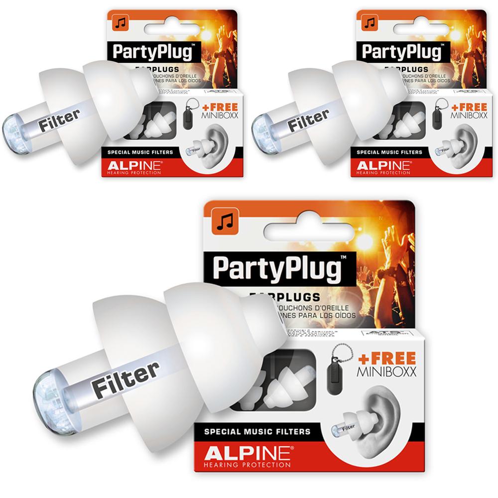 알파인 파티플러그 흰색 파티용귀마개 2p, 3개입