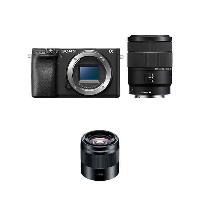 소니 알파 A6400M 미러리스카메라 블랙 SEL18135 망원 줌 렌즈킷 + SEL50F18 패키지, ILCE-6400