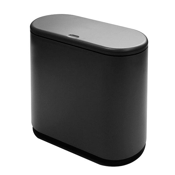 히키스 더블 멀티 다용도 휴지통 10L, 블랙, 1개