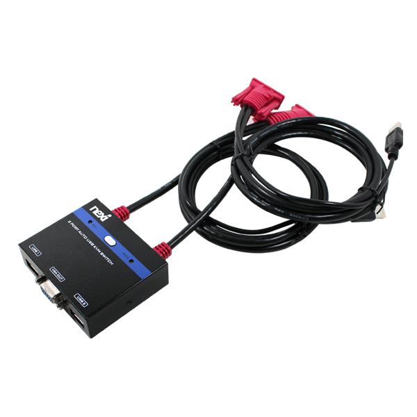 넥시 USB KVM 스위치, NX-KVMS318
