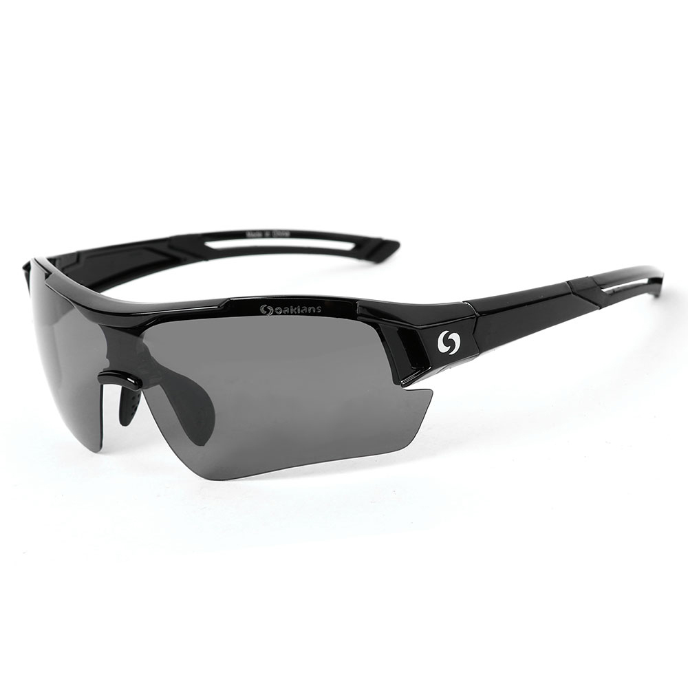 오클렌즈 편광선글라스 스포츠고글 S30, 블랙프레임, 스모그편광렌즈