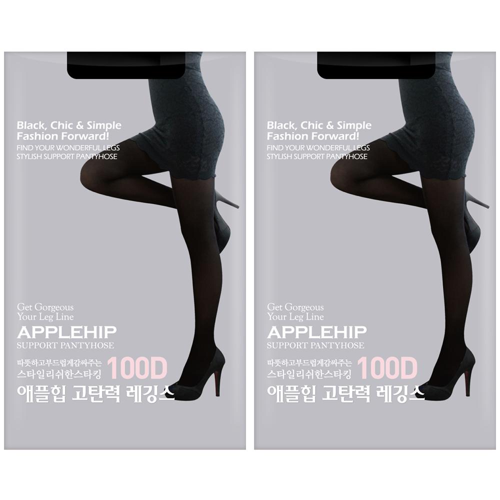 애플힙 고탄력 스타킹 100D 2p