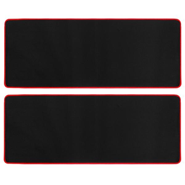 칼론 초대형 마우스패드 OKP-L9000, 블랙 + 레드, 2개입