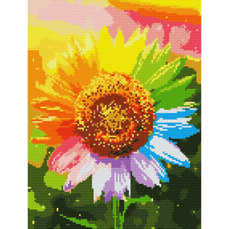 아트조이 DIY 보석십자수 캔버스형 30 x 40 cm, 해바라기의 꿈, 1세트