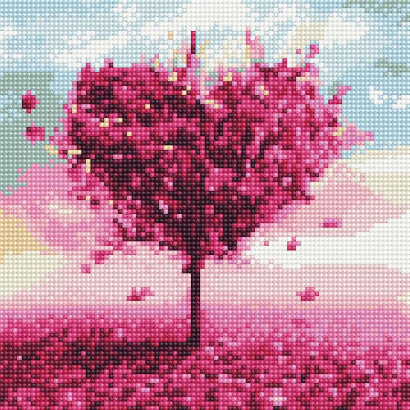 아트조이 DIY 보석십자수 캔버스형 25 x 25 cm, 사랑나무 3, 1세트