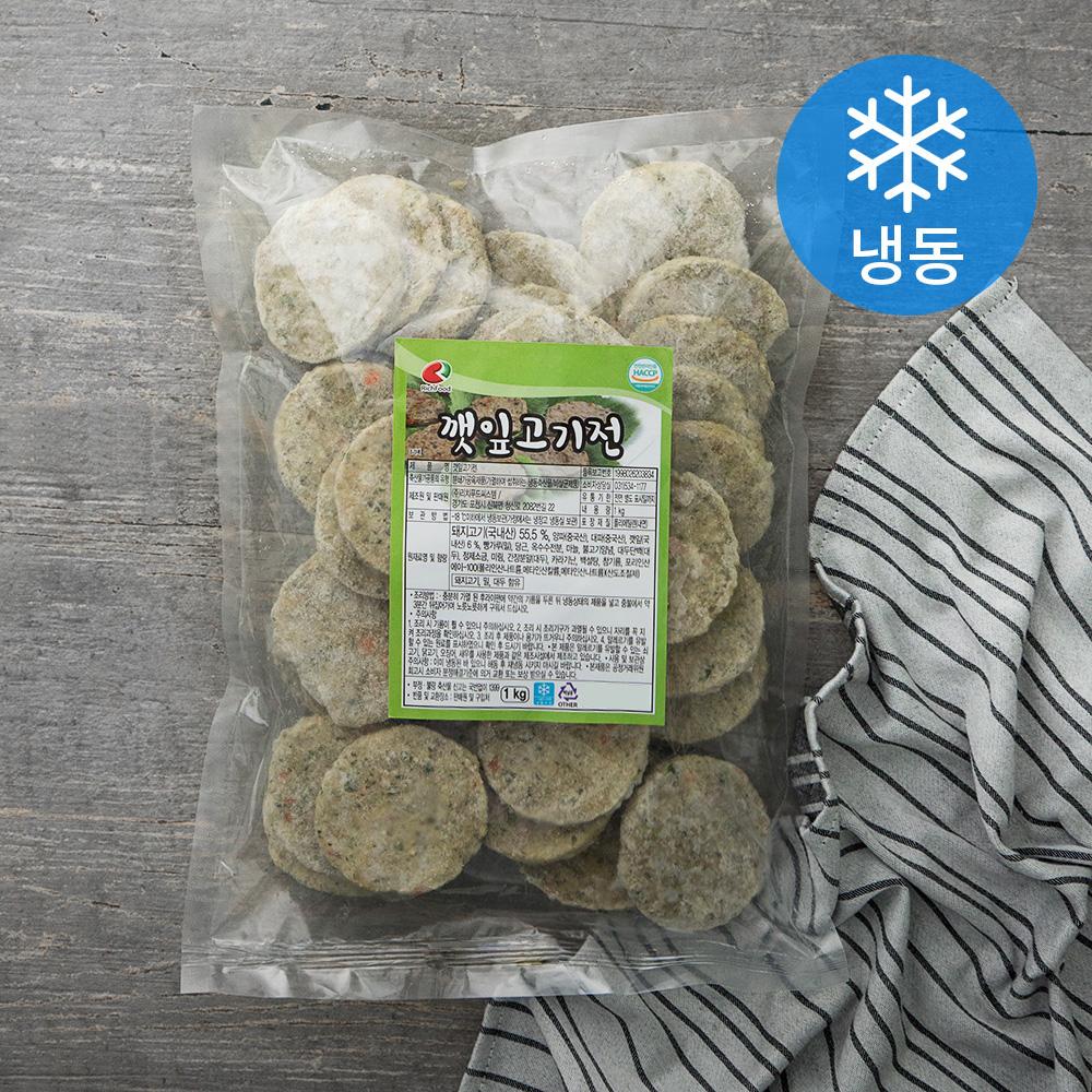 리치푸드 깻잎 고기전 (냉동), 1kg, 1개