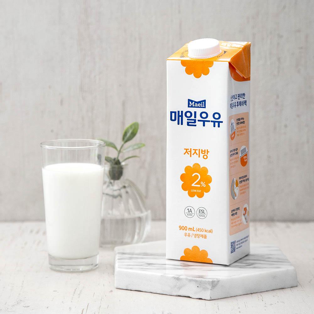 매일우유 저지방2% 우유, 900ml, 1개