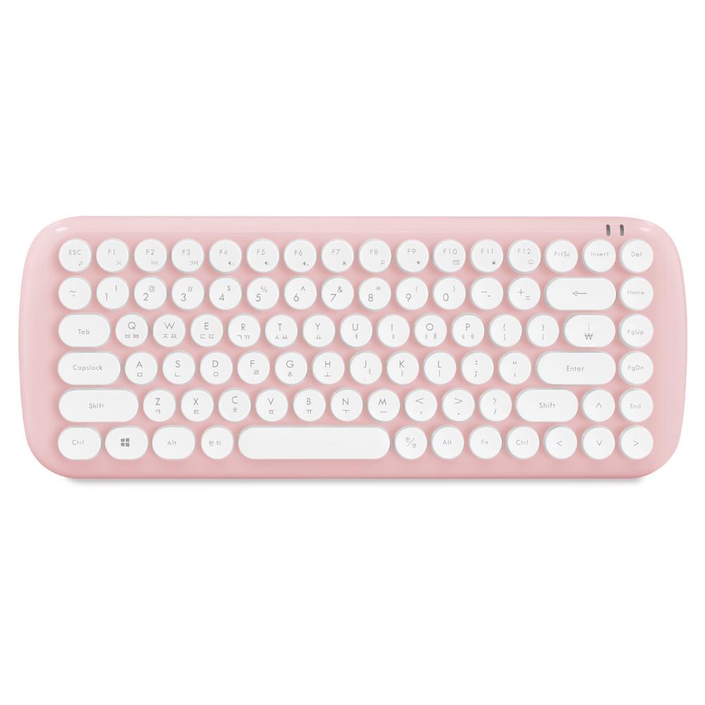 엑토 레트로 팝 미니 무선키보드, 핑크, KBD-54