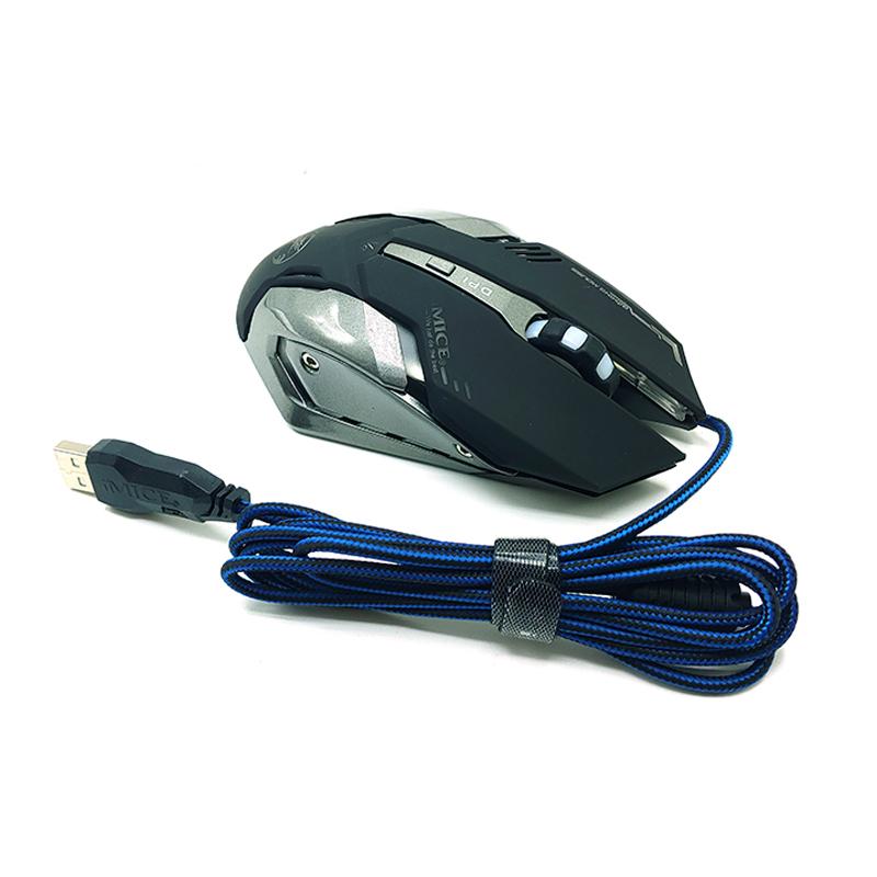iMICE 매크로 게이밍 마우스, WM5000V8, 블랙