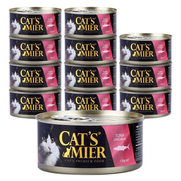캣츠미어 고양이 사료 참치오리지날, 170g, 12개
