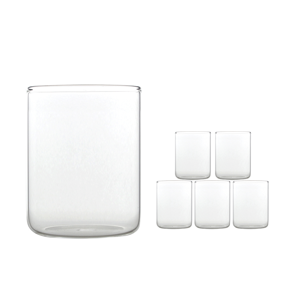 마카 내열유리 컵 C03 420ml, 6개입