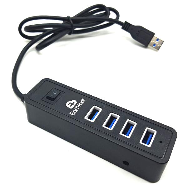 얼리봇 4포트 USB 3.0 허브 1m LHV-300, 혼합 색상