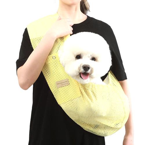에이미러브즈펫 안아주개 반려동물 슬링백, 매쉬레몬