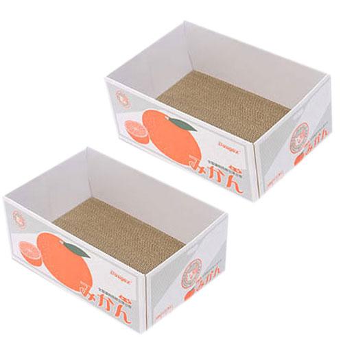 제이시스터즈 까꿍펫 캣박스 스크래쳐 평판형, 귤, 2개입
