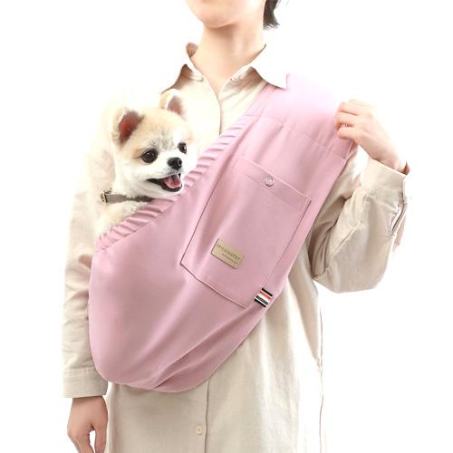 에이미러브즈펫 안아주개 반려동물 슬링백, 핑크