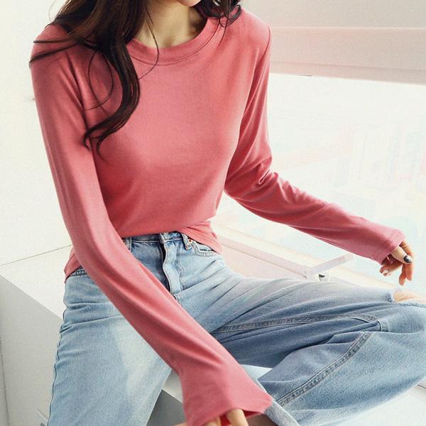 [루즈 티셔츠] 난닝구 여성용 헤시브 라운드긴팔티 - 랭킹80위 (10000원)