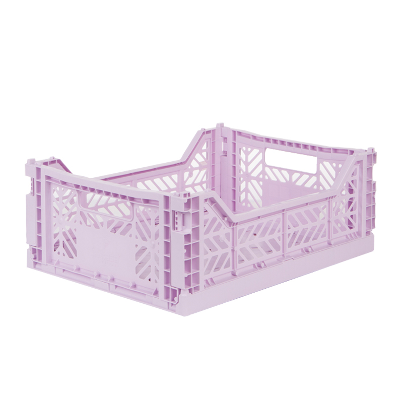 아이카사 폴딩박스 M, lilac, 1개