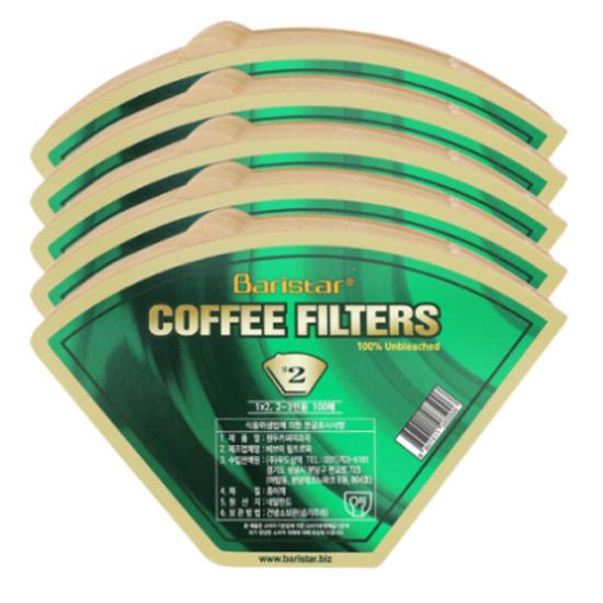 Baristar 커피여과지 2, 100개입, 5개