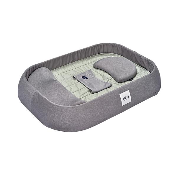 엘라바 아기 침대, Gray Mint