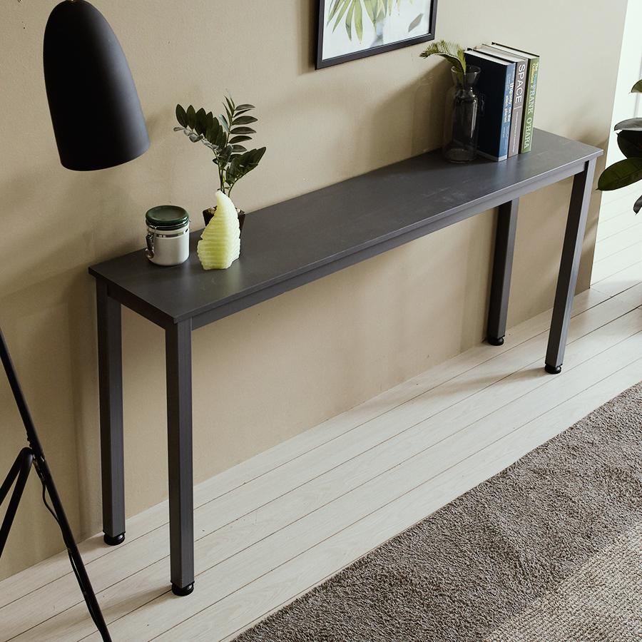 홈인홈 알피노400 홈 테이블 벤치형 1400 x 400 mm, 그레이 + 그레이