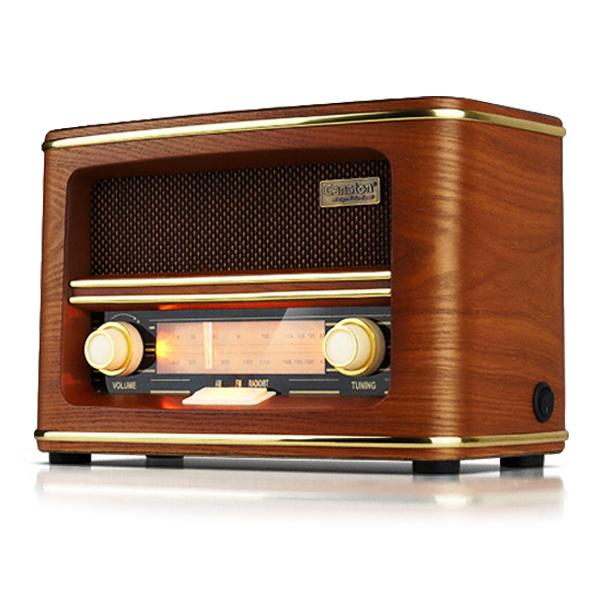 캔스톤 레트로 우드 블루투스 스피커 탁상용 라디오, TR-3300, 혼합 색상
