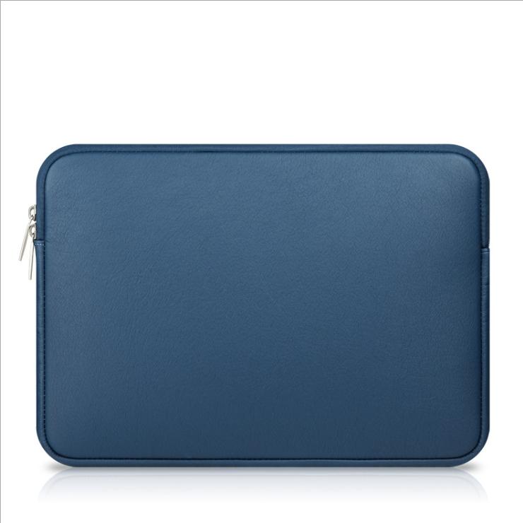토디아 심플 베이직라인 가죽 노트북 파우치, 네이비