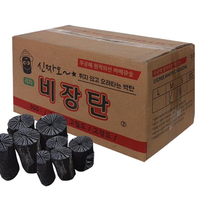 신자오 바베큐참숯 비장백탄, 10kg, 1개
