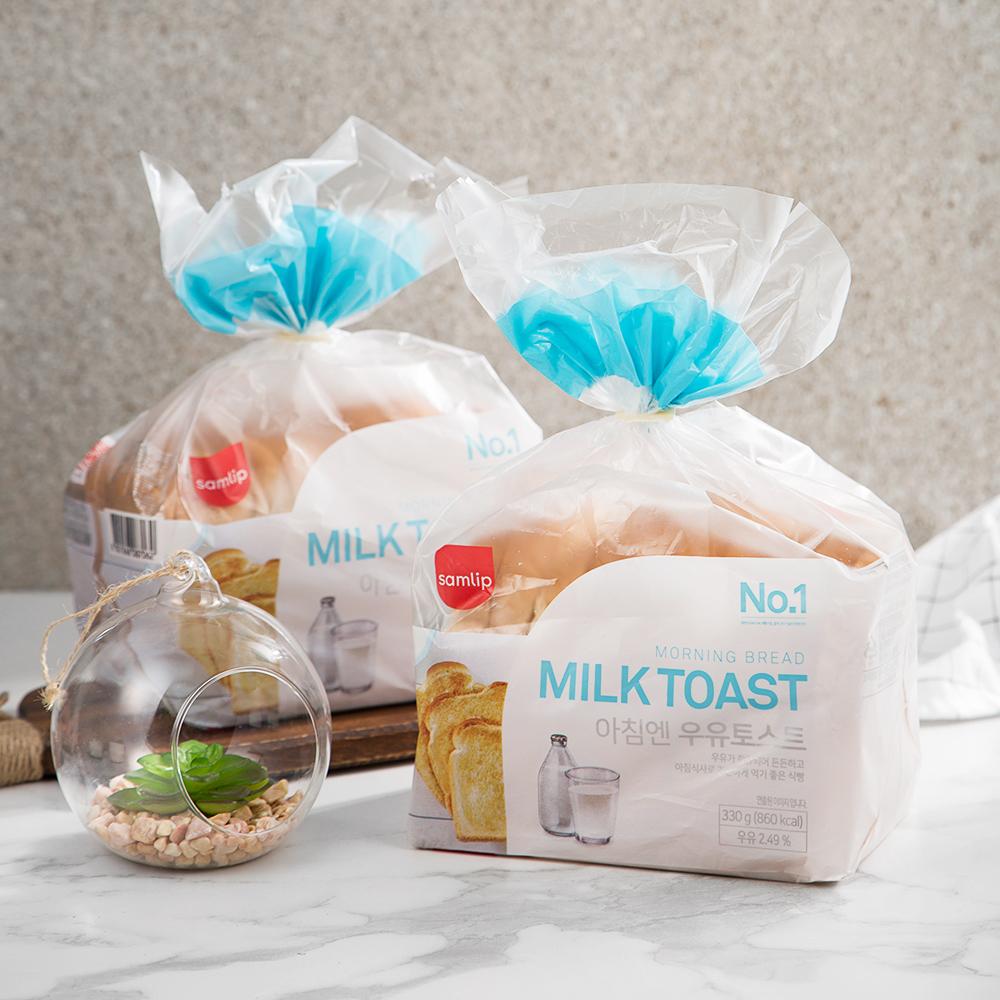 삼립 아침엔 우유토스트 식빵, 330g, 2개